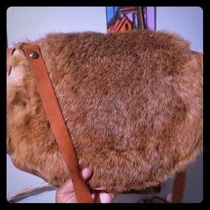 Patricia Nash Fur + Leather Crossbody Bag